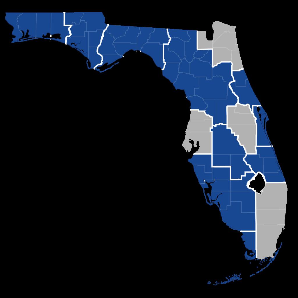 Florida map of HOPWA housing program provider locations